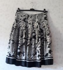 Crno-bijela svilena suknja