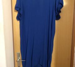 Plava tunika/haljina sa izrezom na leđima