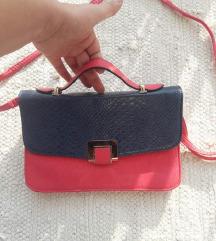 Plavo roza torbica