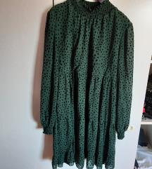 Nova zelena haljina tockice