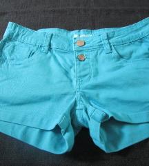 Tirkizno plave kratke hlačice