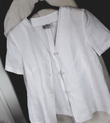 MURA lanena bijela bluza-tunika L/