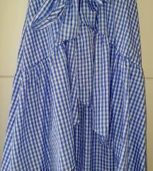 Nova karirana asimetrična suknja
