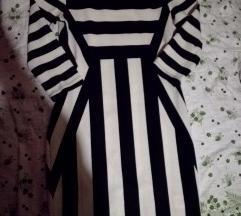 H&m uska haljina na pruge S/M