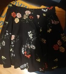 Suknja cvjetni uzorak