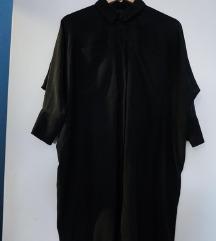 Topshop crna svilena haljinica