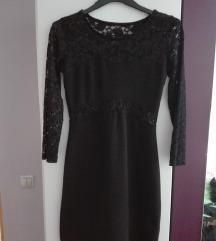 Crna haljina sa čipkom %%%