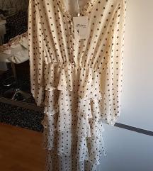 Sniženo230 kn! 💜 NOVA točkasta haljina s volanima
