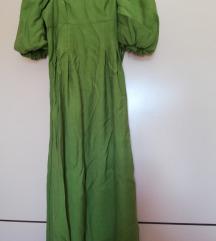 Duga haljina Zara, puf rukavi NOVO Samo prodaja