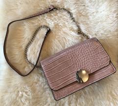 Zara roza torbica od umjetne kože