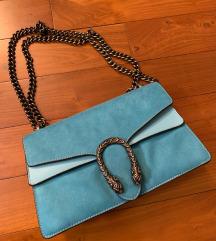 GUCCI plava torba