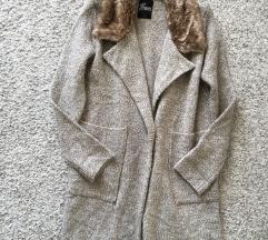 Kardigan jaknica s krznom vel M