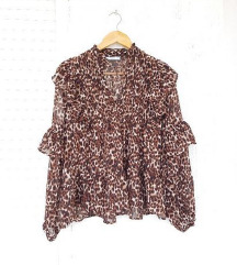 MANGO tigrasta bluza s volanima / leopard print