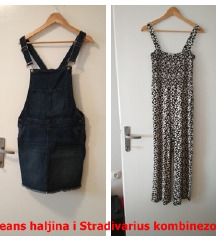 NOVO Stradivarius kombinezon i Jeans haljina