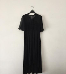 ZARA crna haljina vidljivih leđa