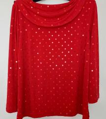 Crvena lagana svjetlucava majica