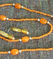Vintage ogrlica i naušnice