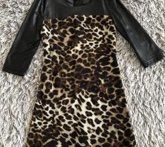 Leopard kožna haljina