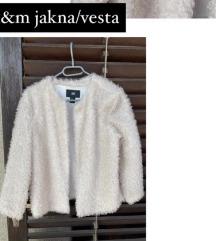 H&M fluffy vesta/jakna