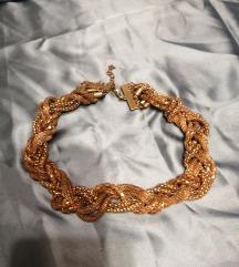 široka ogrlica zlatne boje
