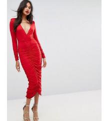 ASOS crvena uska haljina