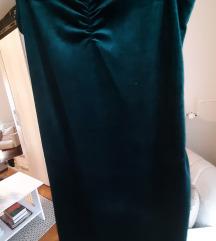 Zelena barsunasta haljina