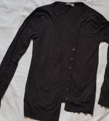 Crni pulover/vesta s gumbima