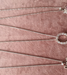 Srebrne ogrlice, 925, vecina novo