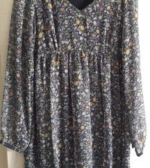 NafNaf cvijetna haljina / Midi dužina