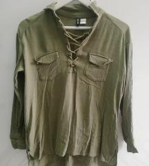 H&M maslinasta košulja