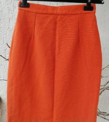 Narančasta vintage suknja