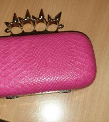 Roza clutch torbica
