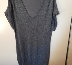 Vero Moda svjetlucava siva majica