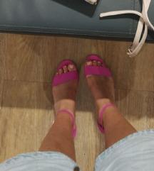 ALDO cipele na blok petu plus Zara torbica