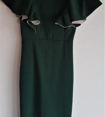 Svečana tamnozelena haljina