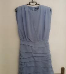 Zara nova drapirana baby blue haljina