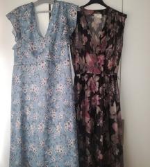 Plava cvjetna haljina