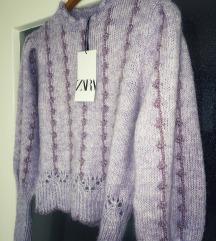 Zara lila dzemper pulover