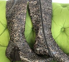 Čizme zmijska koža 36