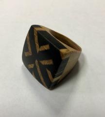 Dizajnerski prsten mahagoni