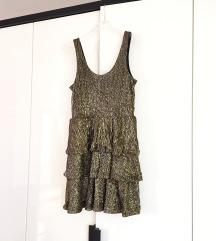 H&M zlatna haljina