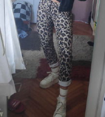 leopard tigraste elasticne hlace %%%%%