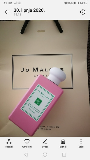 100ml!JO MALONE GREEN ALMOND&RED CURRANT