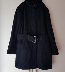 Sale!!!!Zara military crni kaput M/L
