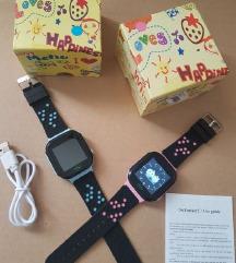 dječji pametni sat rozi plavi Sim kamera poziv