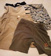 Dječji lot - kratke hlačice i traper košulja, 128