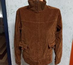 Nenošena smeđa jakna/samt