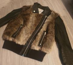 Tom tailor kozna jakna sa krznom
