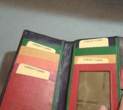 Crni novčanik- šaren unutra