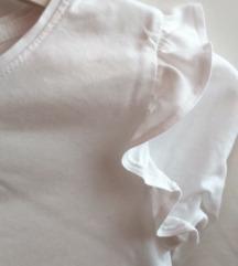 Primark bijela pamučna majica s volanima 110